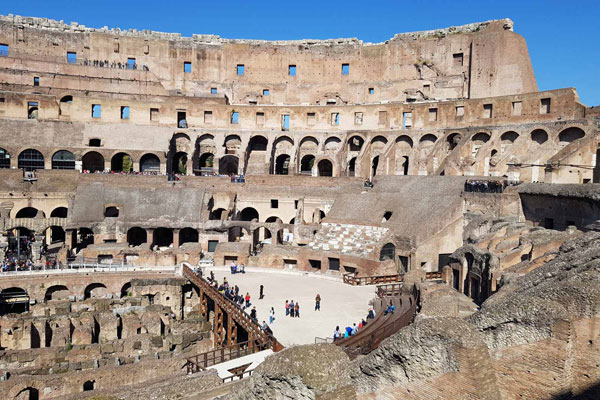 Colosseo, Arena, Sotterra